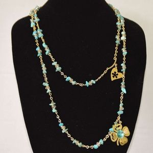Turquoise and Crystals Necklace